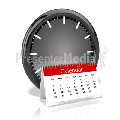 Clock And Calendar Presentation clipart