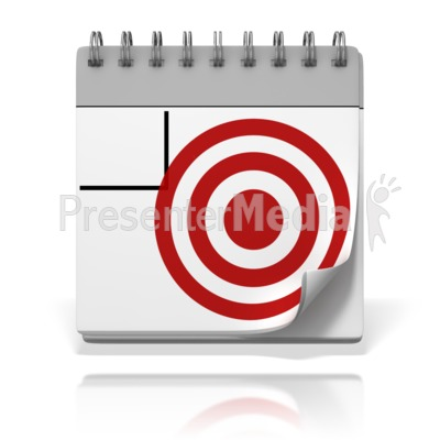 Target Date Presentation clipart