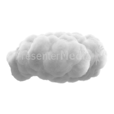 Fluffy Cloud Presentation clipart