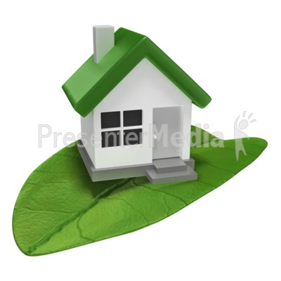 House On Leaf Presentation clipart