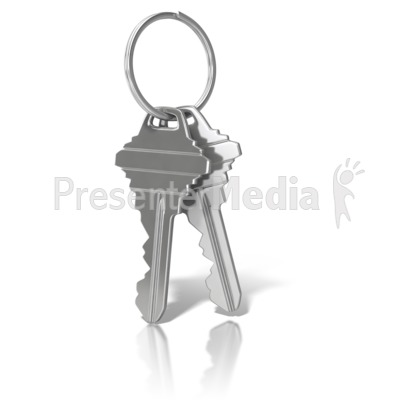 House Keys On Ring Presentation clipart