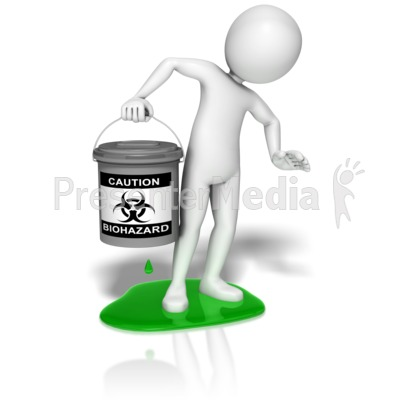 Stick Figure Biohazard Leak Presentation clipart
