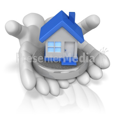 Hands Holding House Presentation clipart