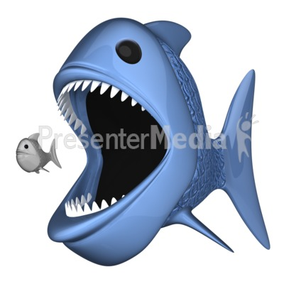 Big Fish Eat Little One Presentation clipart