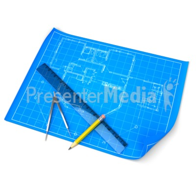 Blueprint Draft Set Presentation clipart