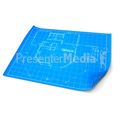 Opened Blueprint Presentation clipart