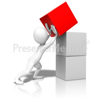 Pushing Stack Up Presentation clipart