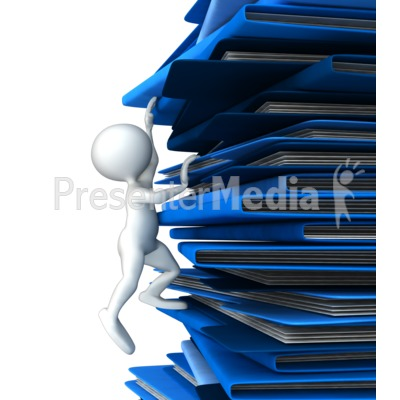 Climbing Up Folders Presentation clipart