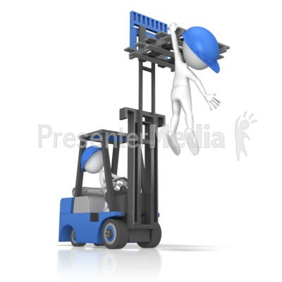 Forklift Careless Incident Presentation clipart
