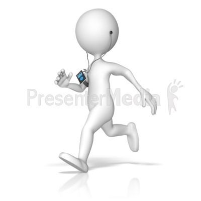 Exercising Listening To Media Device Presentation clipart