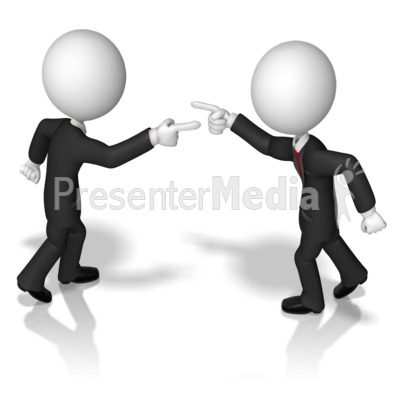 Business Figures Accusing Presentation clipart