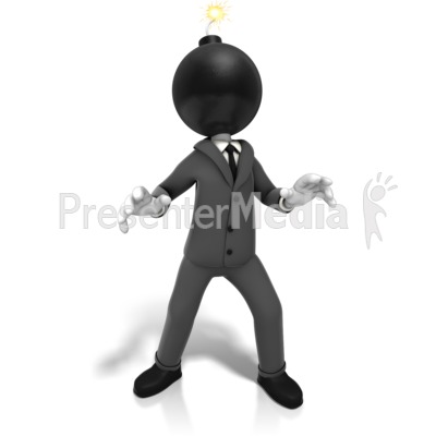 Business Time Bomb Presentation clipart
