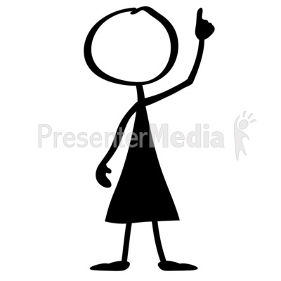 Line Woman Aha Presentation clipart