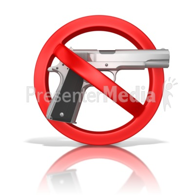 Guns Prohibited Presentation clipart
