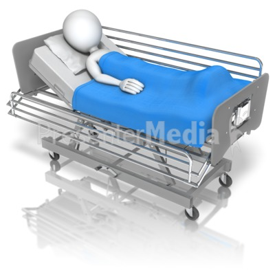 Stick Figure Hospital Bed Presentation clipart