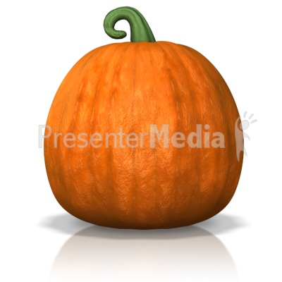 A Single Pumpkin Presentation clipart