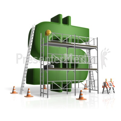 Building Money Scaffolding Presentation clipart