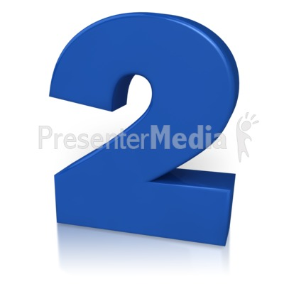 Number Two Presentation clipart