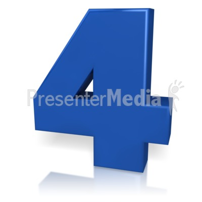 Number Four Presentation clipart