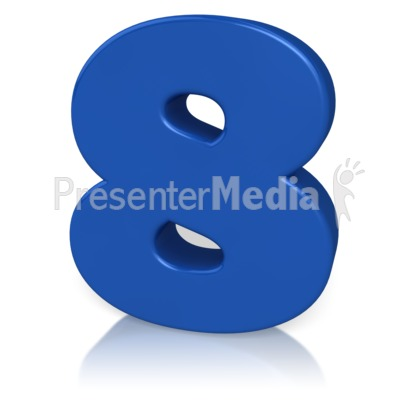 Number Eight Presentation clipart