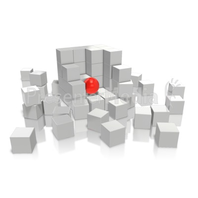 Foreigner In a Cube Presentation clipart