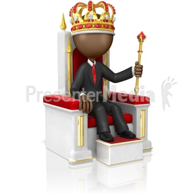 Business Figure On High Throne Presentation clipart