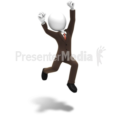 Man Jumping Celebration Presentation clipart