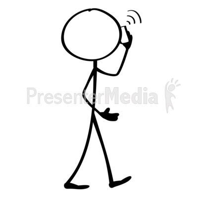 Line Figure Mobile Phone Presentation clipart