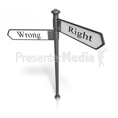 Right And Wrong Presentation clipart