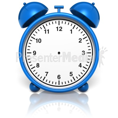 Alarm Clock No Hands Presentation clipart