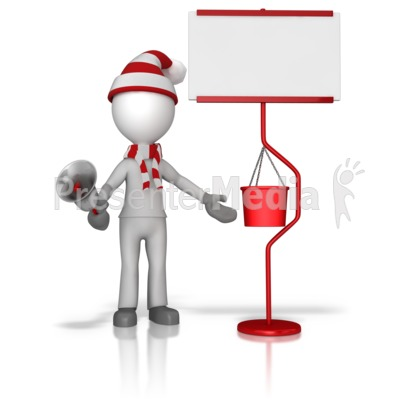 Ringing Bell For Charity Presentation clipart