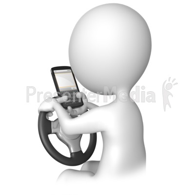 Texting Behind The Wheel Presentation clipart