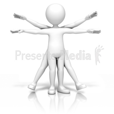 Vitruvian Stick Figure Presentation clipart