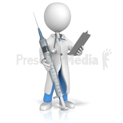 Doctor or Nurse With Syringe And Clipboa Presentation clipart