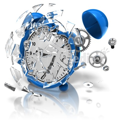 Alarm Clock Smashed Presentation clipart
