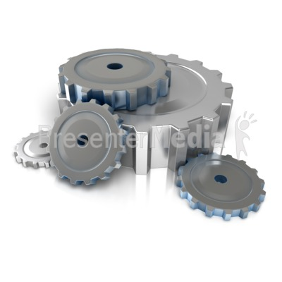 Industrial Gears On Floor Presentation clipart