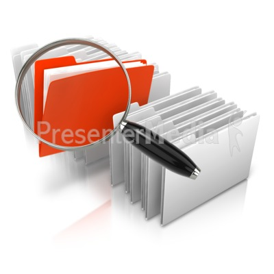 Stand Out Magnify File Presentation clipart