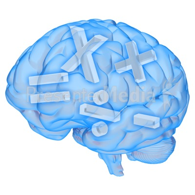 Brain Math Symbols Presentation clipart
