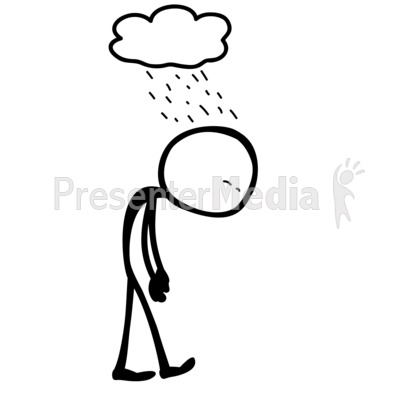 Line Figure Depressed Presentation clipart