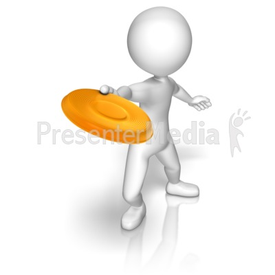 Stick Figure With Frisbee Presentation clipart