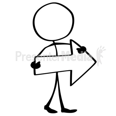 Line Figure Arrow Right Presentation clipart