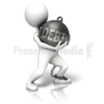 Walking Debt Chain Ball Presentation clipart