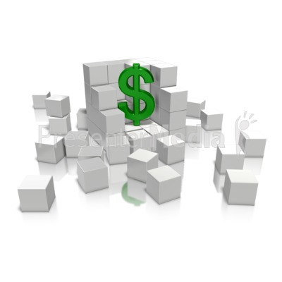 Money In Cube Presentation clipart