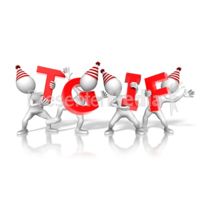 TGIF Party Figures Presentation clipart