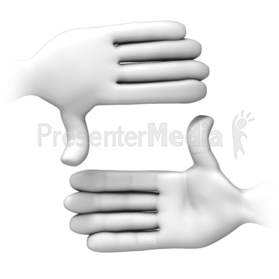Frame It With Hands Presentation clipart