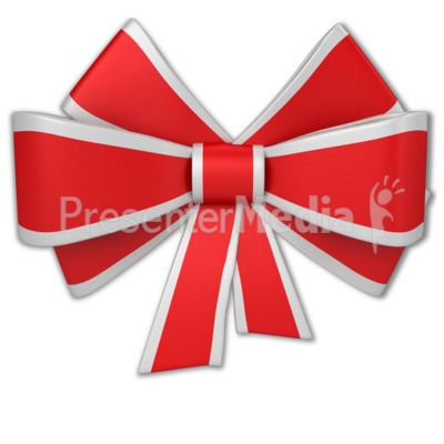 Christmas Ribbon Presentation clipart