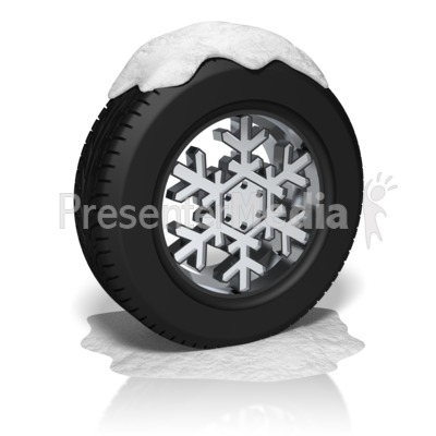 Snow Tire Rim Presentation clipart