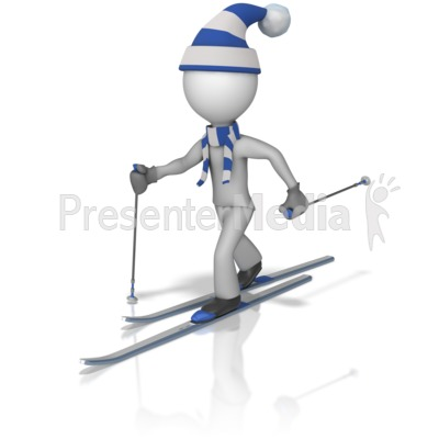Cross Country Skier Figure Presentation clipart