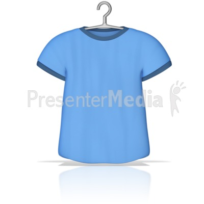 T Shirt on a Hanger Presentation clipart
