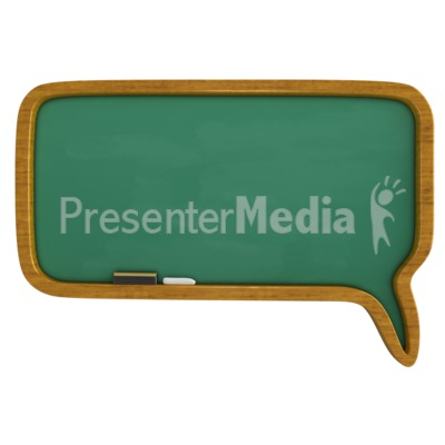 Chalkboard Call Out Bubble Presentation clipart